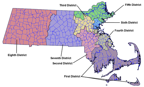 Massachusetts Governor's Councillors Districts, 2012[4]