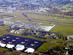 Aerial view of McChord AFB during 2003.