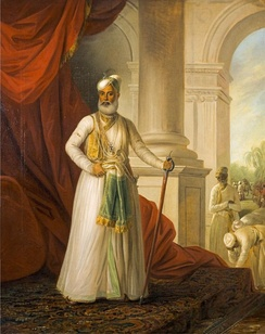 Portrait of the Nawab by George Willison (1775).