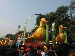Dhaka's annual Mangal Shobhajatra during the Bengali New Year is recognized by UNESCO as an intangible cultural heritage of humanity
