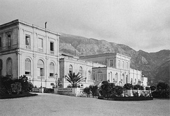 Seaside facade at Monte Carlo, 1870s
