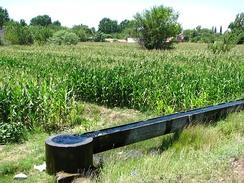 Irrigation canal in Osmaniye, Turkey