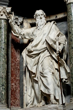 Statue of St. Paul in the Archbasilica of Saint John Lateran by Pierre-Étienne Monnot