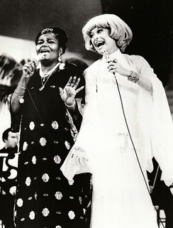 With Carol Channing on a TV special One More Time (1974)