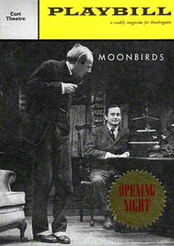 Hordern (left) and Wally Cox on Playbill's front cover for Marcel Aymé's comedy Moonbirds in 1959