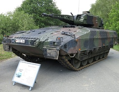 The German Puma is one of the best protected infantry fighting vehicles