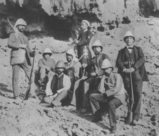 Robert Koch (third from the right) on a cholera research expedition in Egypt in 1884, one year after he identified V. cholerae