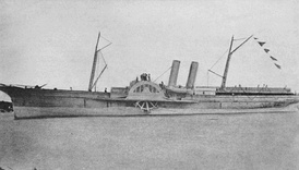 Blockade runner SS A.D. Vance, captured by the Union Navy and recommissioned asAdvance