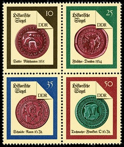 Stamps of old German seals