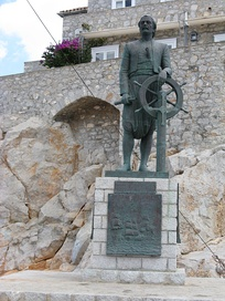 Statue of Andreas Miaoulis, admiral during the Greek War of Independence.