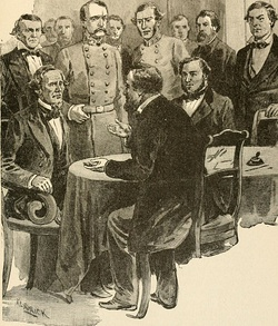 Last Meeting of the Confederate Cabinet in Washington, Georgia.