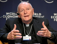 Theodore Edgar McCarrick (born 1930), ordered in 2018 by Pope Francis to a life of prayer and penance.[1] Found guilty of sexual crimes against adults and minors and abuse of power, he was dismissed from the clergy in February 2019.[2] He is the most senior church official in modern times to be laicized and is the first cardinal laicized for sexual misconduct.