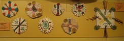 Traditional St Patrick's Day badges from the early 20th century, Museum of Country Life in County Mayo