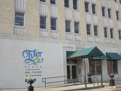 Chamber of Commerce office in downtown Tyler