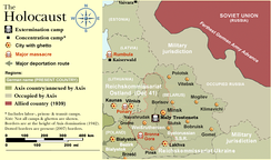 Holocaust in Reichskommissariat Ostland (which included Estonia): a map