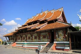 Dai Theravada Buddhist temple in Menghai County, Xishuangbanna.