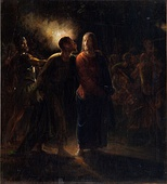 Wilhelm Marstrand, Kiss of Judas, undated (between 1830 and 1873),