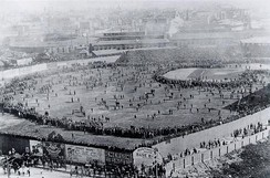 Iconic photo of the Huntington Avenue Grounds before the first modern World Series game