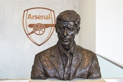 Bust of Arsène Wenger at the Emirates Stadium