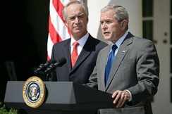 President Bush delivering a statement on energy, urging Congress to end offshore oil drill ban, June 18, 2008