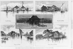 Five images of the Filipino settlement at Saint Malo, Louisiana