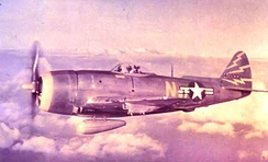 81st FG F-47N 44-8800 over Hawaii about 1949