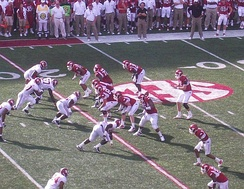 The 2010 Arkansas Razorbacks football team played against the Alabama Crimson Tide in September, 2010.