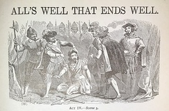 A lithograph depicting Act IV Scene III.