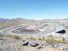 The Phoenix International Raceway as viewed from the summit of Monument Hill