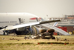 British Airways Flight 38 which crash landed just short of the runway on 17 January 2008