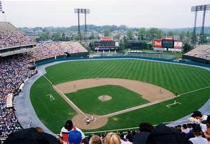The Baltimore Orioles at play during a 1991 home game at Memorial Stadium.
