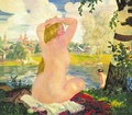 Boris Kustodiev, Bathing (1921)