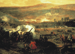 The Battle of the Boyne, at which Butler commanded the Queen's Troop.