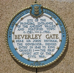 Commemorative plaque, Beverley Gate, Hull