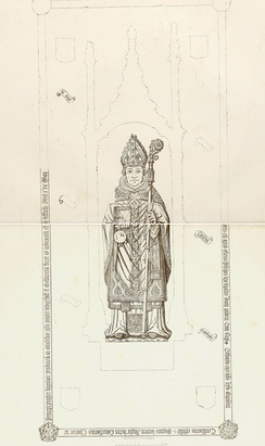 Memorial brass to Bishop Goodrich in Ely Cathedral
