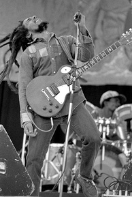 "Jamaican musician Bob Marley is known as the ""King of Reggae""."