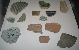 Pottery sherds from the Kilwa Sultanate, founded in the 10th century by the Persian Sultan Ali ibn al-Hassan Shirazi.
