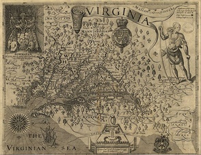 Smith's map of Virginia from The Generall Historie of Virginia, New-England, and the Summer Isles, 1624