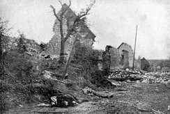 Ruins of Carency after it was recaptured by France
