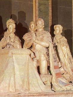 Cenotaph of Philip and his family at El Escorial.