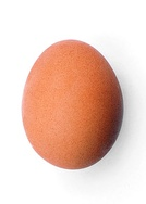 A chicken egg is a naturally occurring ovoid