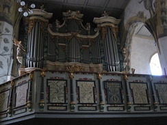 The organ of the Jakobikirche in Sangerhausen