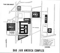 9th MAB post-operation map of the DAO Compound and Air America Compound with LZs marked