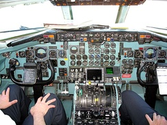 two-person flight deck