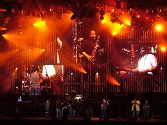 "Dave Matthews Band performing ""Last Stop"" at The Pavilion on July 5, 2006."