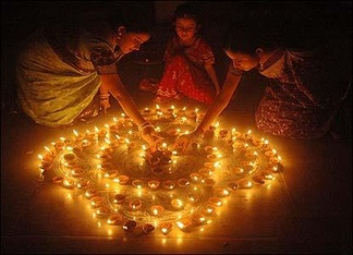 The festival of lights, Diwali, is celebrated by Hindus all over the world.