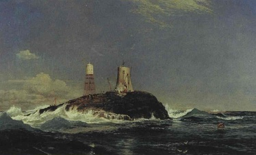 Dhu Heartach Lighthouse, During Construction by Sam Bough (1822–1878)