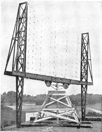 Experimental radar antenna, US Naval Research Laboratory, Anacostia, D. C., late 1930s