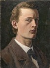 Self-Portrait, 1882, 26 cm × 19 cm (10 1⁄4 in × 7 1⁄2 in), Munch Museum, Oslo