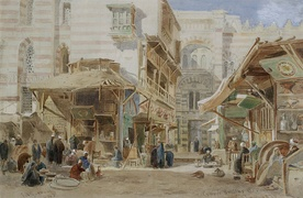 Copper Market, Cairo by Edward Angelo Goodall, 1871